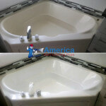roman tub refinished in white